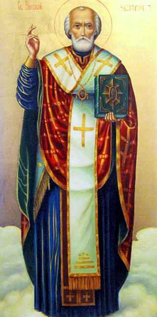 Икона св. Николая Чудотворца - день св. Николая - Никулден